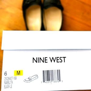 Nine West Black Leather Loafers